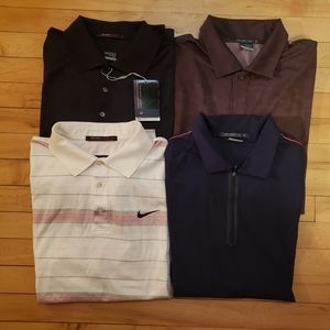 Lot of 4 Nike Tiger Woods polos size Medium